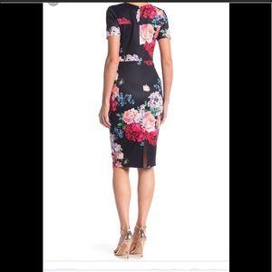 Alexia Admor blue floral midi dress XS